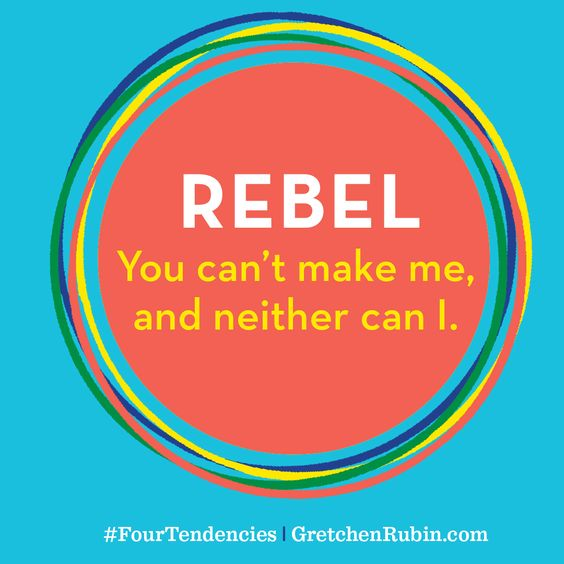 Rebel: You can't make me, and neither can I.